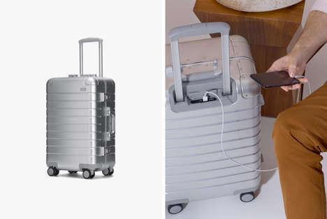 Lightweight Metallic Carry-Ons
