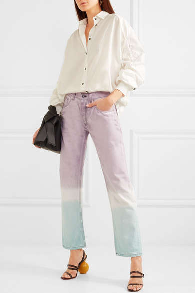 Pastel Tie-Dyed Jeans - LOEWE Designed a Unique Pair of Straight-Leg Jeans with a Hippie Vibe
