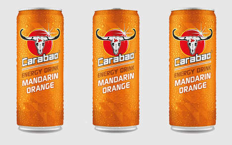 Refreshing Alternative Energy Drinks - The Carabao Mandarin Orange Drink will be Launch on April 2