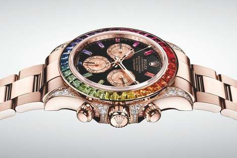 Rainbow-Encrusted Watches