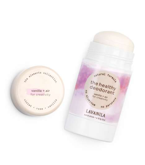 Elemental Deodorant Collections - Lavanila's Elements Collection Takes Cues from Air, Water & Earth