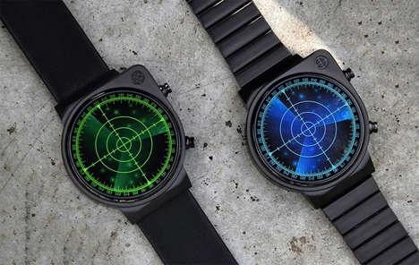Circular Radar Timepieces