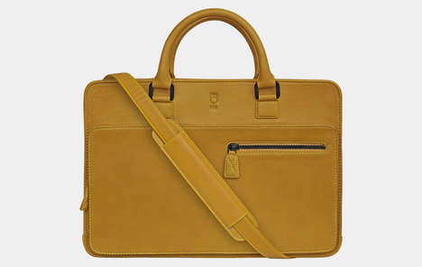 Stylish Tech-Focused Briefcases