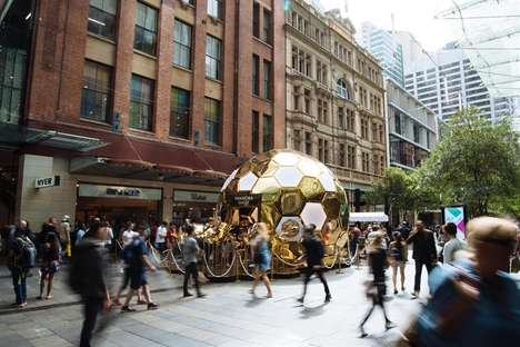 Multi-Sensory Beehive Pop-Ups - Pandora Created a Gilded Hive for a New Jewelry Launch