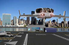 Speedy Flying Autonomous Taxis - The Aerospace 'AirisOne' Carries Four Passengers in Total Comfort