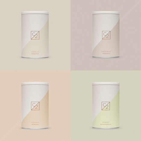 Elegant Protein Powder Packaging - 'Chapter 2' Favors a Soft Color Scheme for Its Protein Products