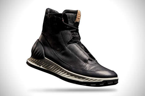 Enhanced Leather Sneaker Boots