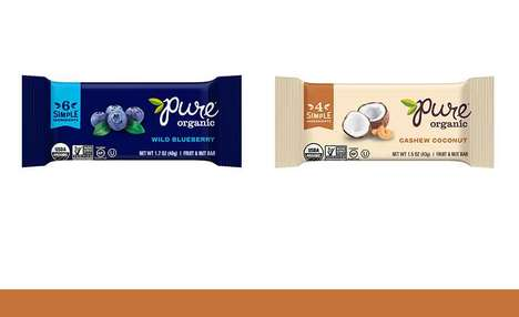 Limited Ingredient Snack Bars - The Pure Organic Fruit & Nut Bars Come in Six Flavor Options