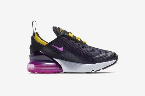 Sleek Purple Toddler Sneakers