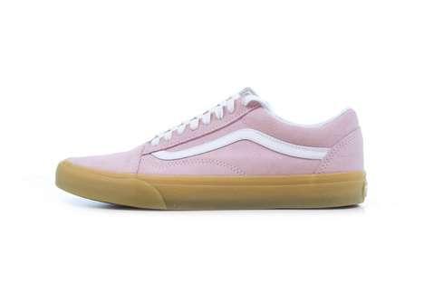 Retro Pink Skate Shoes