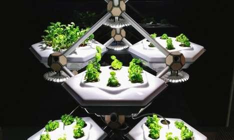 Hexagonal Indoor Farms
