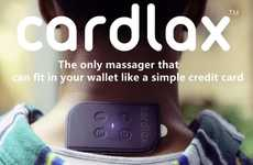 Card-Sized EMS Massagers - The 'Cardlax' is Slim Enough to Fit into Your Wallet or Pocket