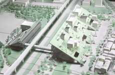 Slanted Architectural Museum Designs - Riken Yamamoto's Design is for the Taoyuan Museum of Art