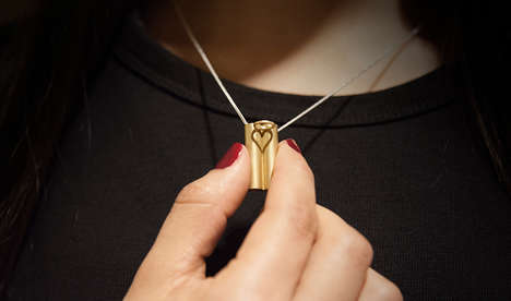 Heart-Shaped Shadow Jewelry - 'Invisible Love' Casts a Heart-Shaped Shadow on the Necklace's Base