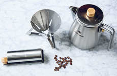 Camping Coffee-Making Kits - Snow Peak's Field Barista Set Makes the Perfect Cup of Coffee Anywhere
