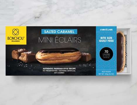 Free-From Miniature Eclairs