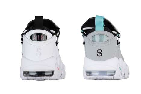 Pale Money-Accenting Sneakers