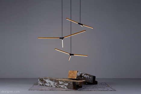 Branch-Inspired LED Pendants
