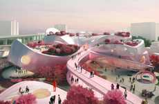 Pink Nature-Centered Museum Architecture