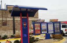 Pivoting Drive-Thru Canopies - OrderMatic's Drive-Thru Canopy Moves to Accommodate Tall Vehicles