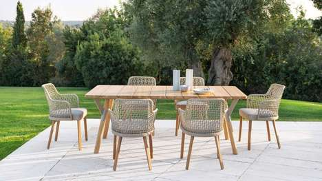 Woven Backrest Outdoor Seats