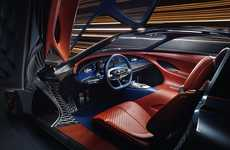 3D-Printed Automotive Interiors - The Genesis Essentia Concept Showcases a Dynamic Printed Interior