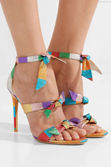Colorful Bow-Embellished Heels