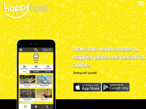 Happiness-Focused Social Apps - 'HappyTask' Lets Users Share Tasks to Make Others Happier