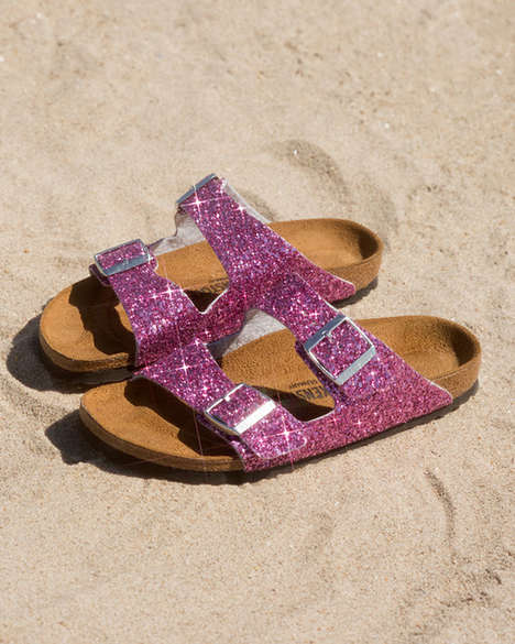 Glittery Collaborative Sandals