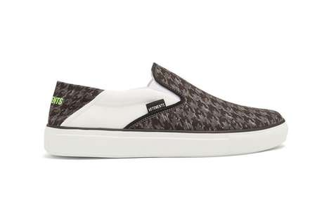 Houndstooth-Printed Luxury Sneakers