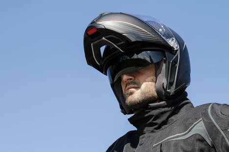 Flip-Face Carbon Helmets
