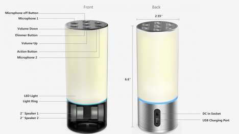 Connective Lamp Speakers
