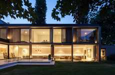 Glass-Paneled House Extensions - Steven Vandenborre Added a Glazed Annex to a Family Home in Ghent