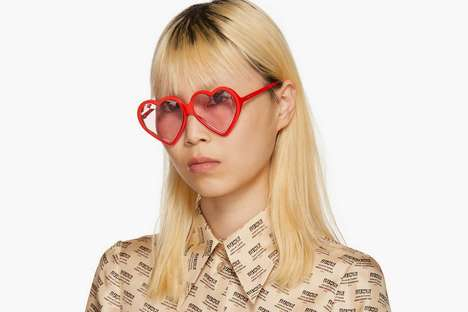 Designer Heart-Shaped Sunglasses