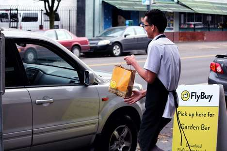 Mobile Curbside Delivery Apps - The FlyBuy App Engenders Curbside Pickup for Any Restaurant
