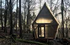Budget-Friendly Pentagonal Houses - This Tiny Structure by Invisible Studio is Compact and Mobile