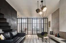 Perforated Terraced House Interiors - AMA Designs a Perforated Interior to Optimize Light Exposure