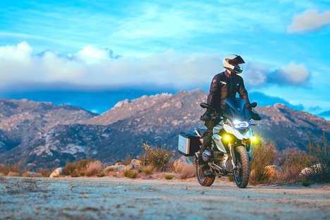 Unobtrusive Motorcycle HUDs