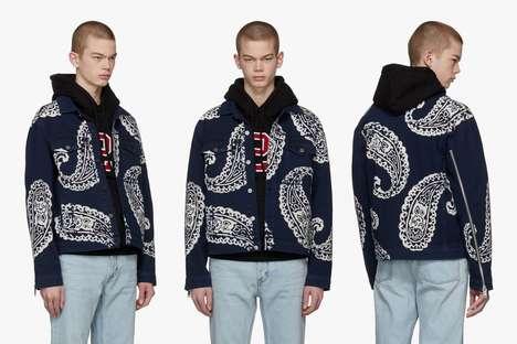 Paisley Patterned Denim Jackets