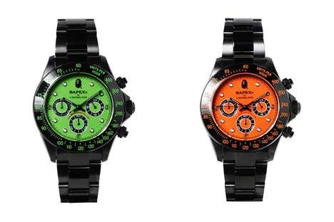 Fluorescent Metal Timepieces