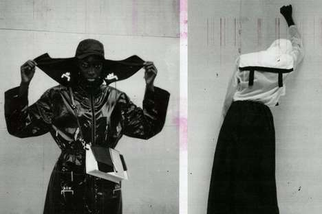 Expressive Monochromatic Womenswear Editorials