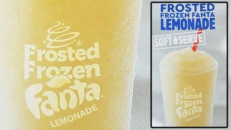 Blended Lemonade Slushie Drinks