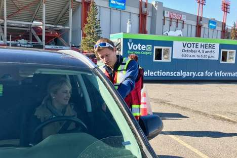 Drive-Thru Municipal Voting Stations