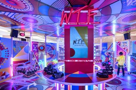 Party-Inspired Retail Spaces - Bangkok's What-The-Forest Club Engages Shoppers with AR Tech