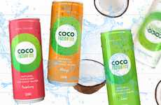 Sparkling Coconut Water Refreshments - The Coco Fuzion 100 Drink is Free from Added Sugar