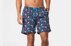 Undergarment Brand Swim Shorts - The SAXX CannonBall Trunks Ensure All-Day Comfort and No Chaffing