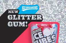 Glittering Chewing Gums - Hershey's Launched Its Newest Ice Breakers as an Edible Glitter Gum