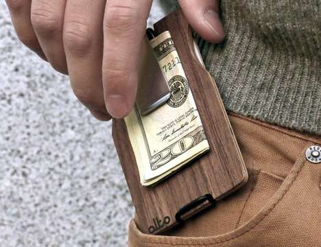The Alto Collective Wood Wallet Incorporates Only the Essentials