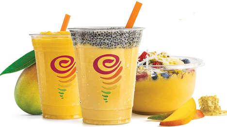 Superfood-Infused Smoothie Foods - These New Jamba Juice Menu Items are Made with Real Mango