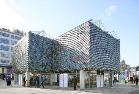 Repurposed Plastic Pavilions - This Dutch Pavilion's Facade Was Fashioned from Recycled Plastic